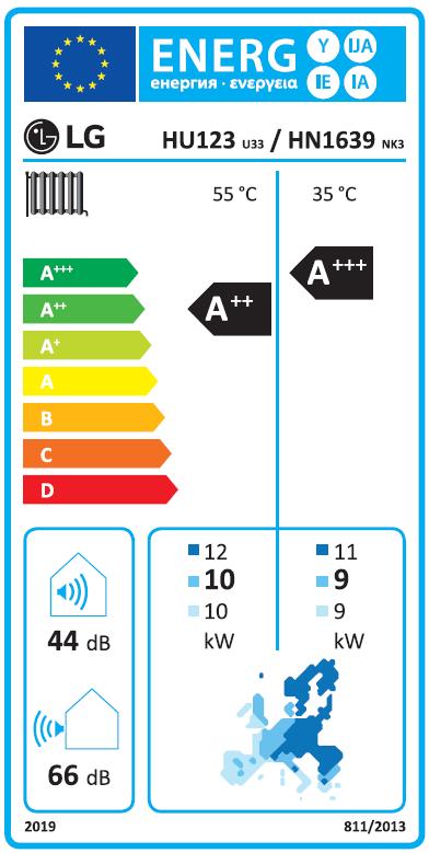 Warmtepomp LG HU123 Therma V energielabel